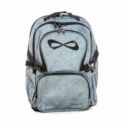 Nfinity Grey Sparkle Black Logo backpack