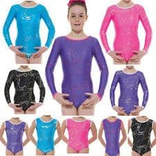 Carnival range of long sleeve leotards G36