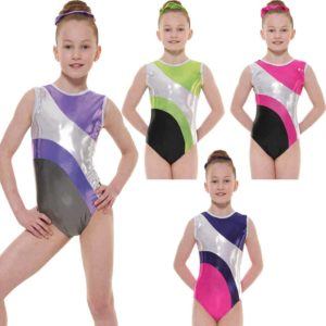 Shine Lycra Sleeveless Gymnastic Leotard G41