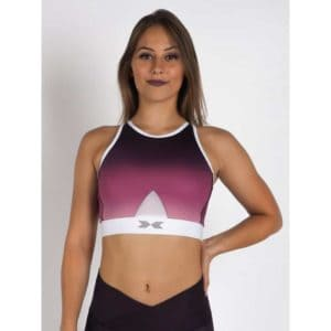 Crossed Bra Mesh Purple Blush