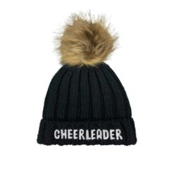 Black Cheerleader Beanie